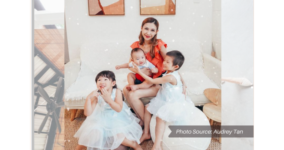 ATC| Influencer Marketing Singapore Influencer Audrey Tan with her kids